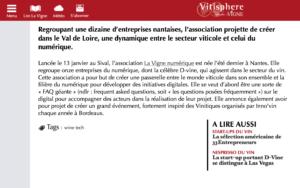 Article Vitisphere Lancement de la Vigne Numérique